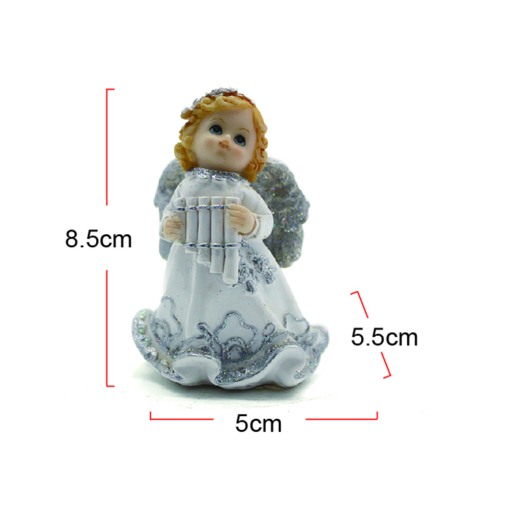 Resin mini cute angel statue with wings