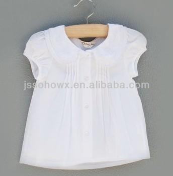 23f6c72d3 100% cotton white baby blouse, baby girl cotton shirt, fancy girls white  blouse