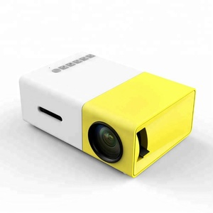 YG300 Hot Sale High Quality HD LED Mini Pocket Portable Projector For Home Theater
