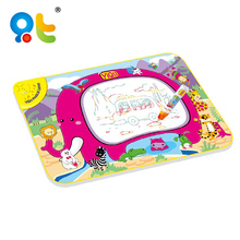 Kids educational painting drawing toy battery magic elephant shape drawing aqua water doodle mat with music