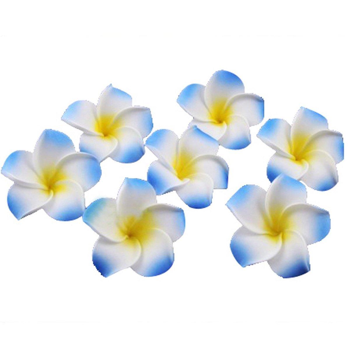 Buy Winomo 100pcs Artificial Flowers Plumeria Hawaiian Foam