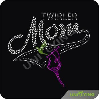 Apparel Garment Rhinestone Twirler Mom Dancer Rhinestone Design ...