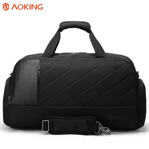 in stock high capacity sport bag trendy waterproof mens travel bag with shoe compartment