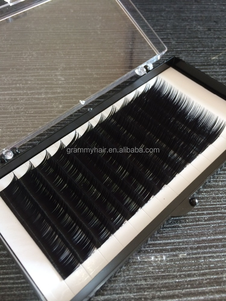 Factory directly supplying silk mink fur eyelashes extension with custom eyelash packaging