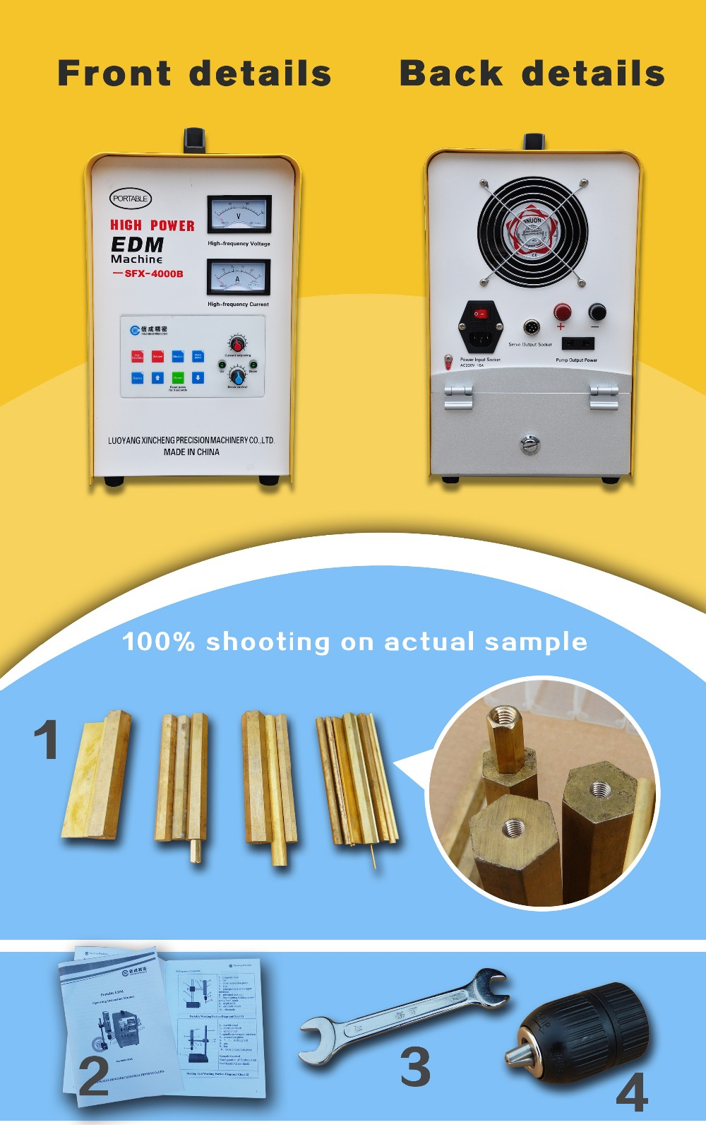 China new portable SFX-4000B machine for broken tap remover mini edm machine