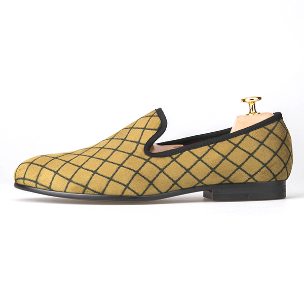 Moccasins Plaid Men Shoes Fashion Yellow wqfv71g