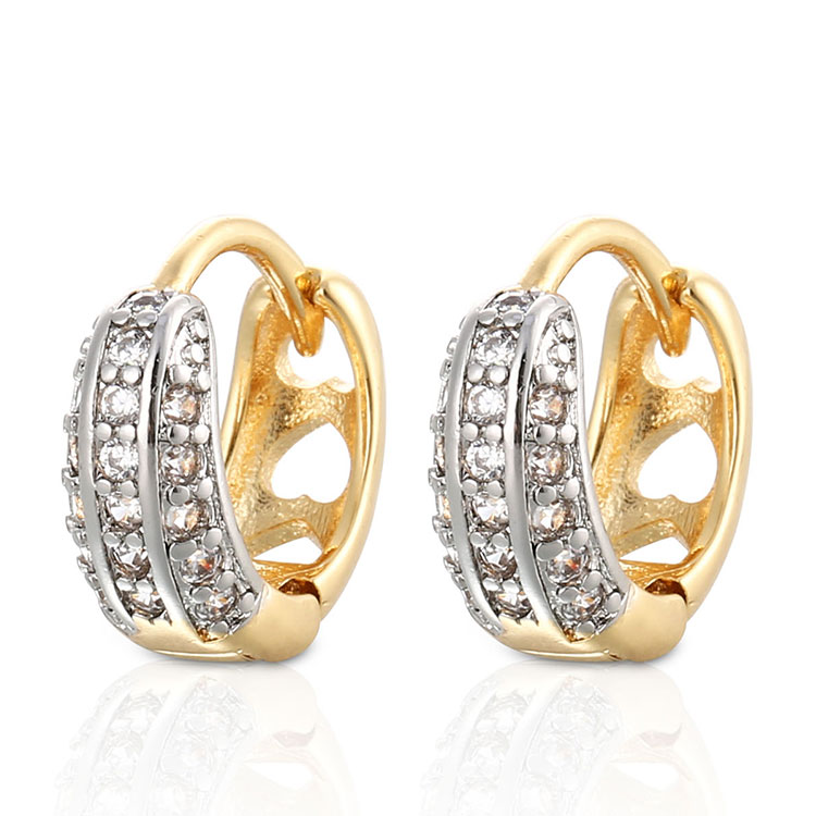 Snowflake 18K Muliti Gold Plated Hypoallergenic Hoop Earrings For Girls