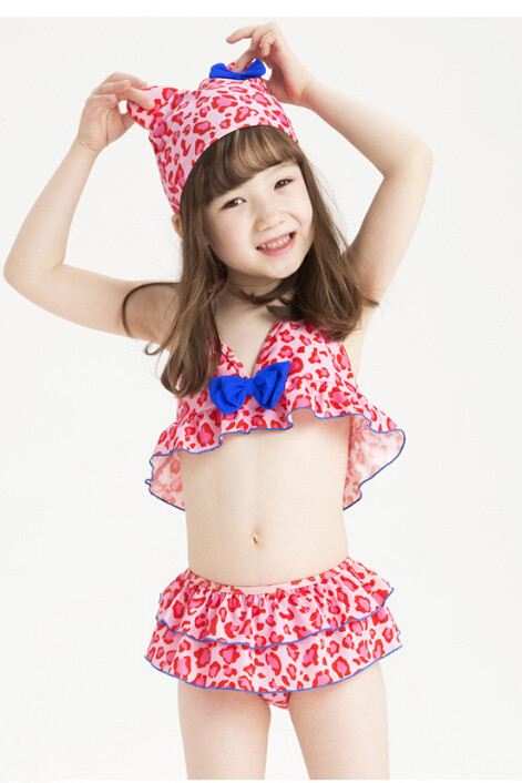5a2c17b3233 Get Quotations · Brand Children Swimwear Pink Leopard Bikini Body Suit  Children s Girl Cute Swimming Suit Summer Style Kids