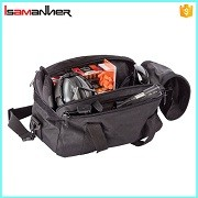 Multi-compartment heavy duty sport duffle shooting bag with shoulder strap