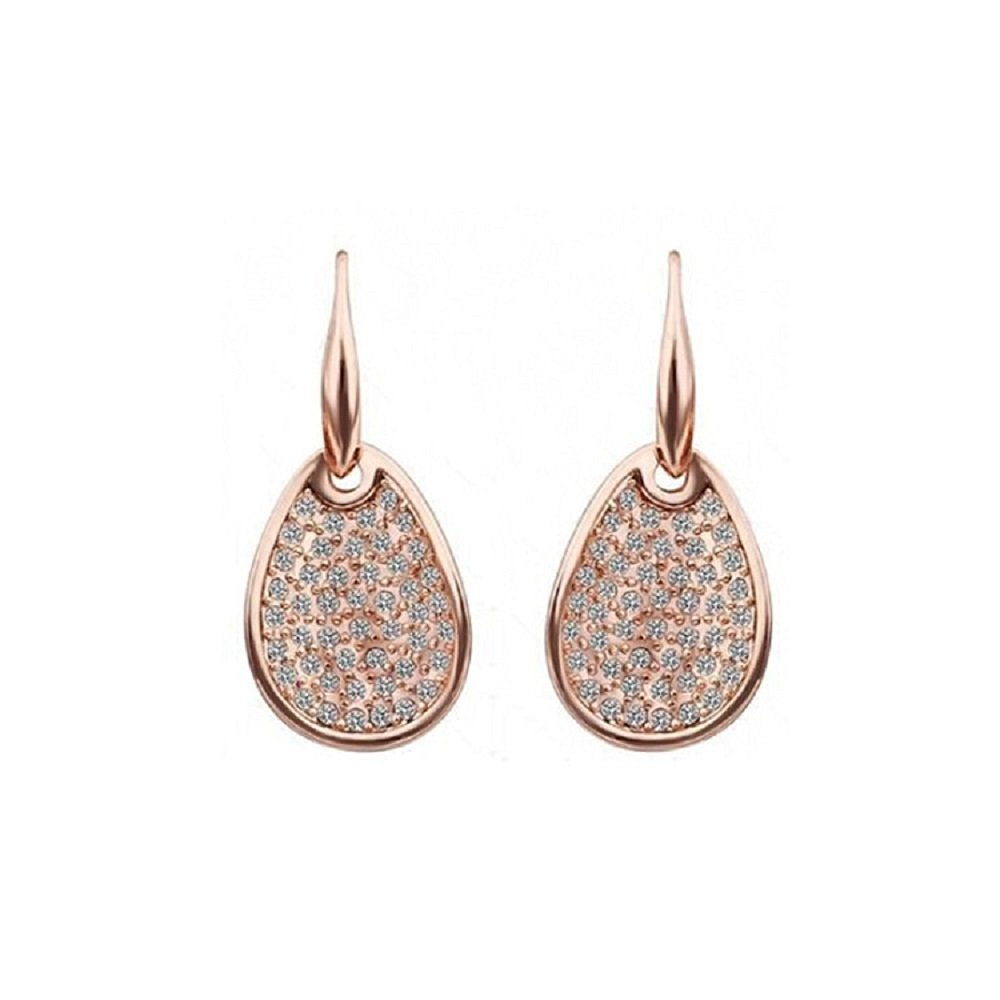 Get Quotations Duman 18k Rose Gold Plated Earrings Health Jewelry Swarovski Elements Crystal