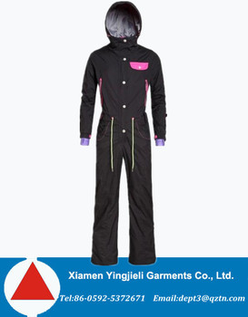 Womens Snow Suit One Piece >> Cheap Womens One Piece Adult Ski Snowsuit Ski Jumpsuit View Adult Ski Jumpsuit Yjl Product Details From Xiamen Yingjieli Garments Co Ltd On