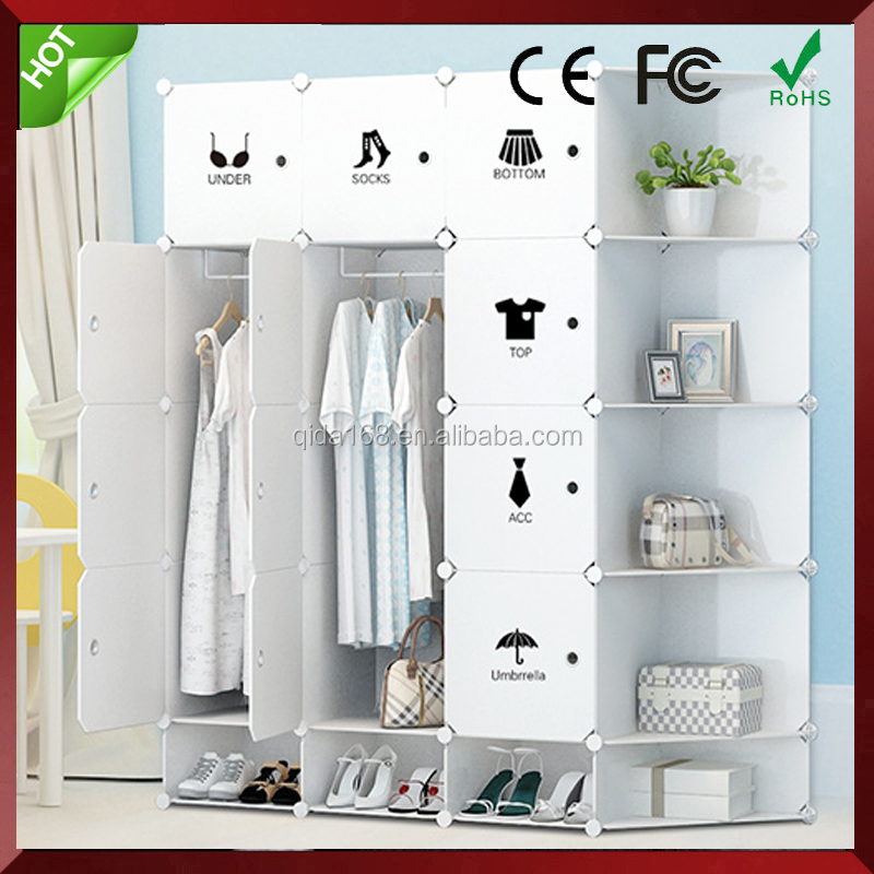 6,8,9,12,16cubes eco-friendly PP plastic DIY baby wardrobe for kids