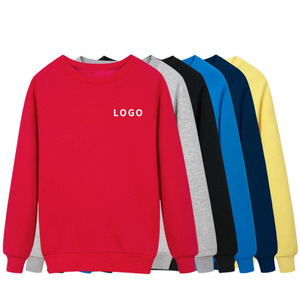 In stock hip hop heavy plain pullover winter unisex crewneck sweatshirt