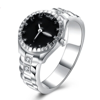 Creative Fashion Round Quartz Watches Lady Girl Gift Finger ring Watch