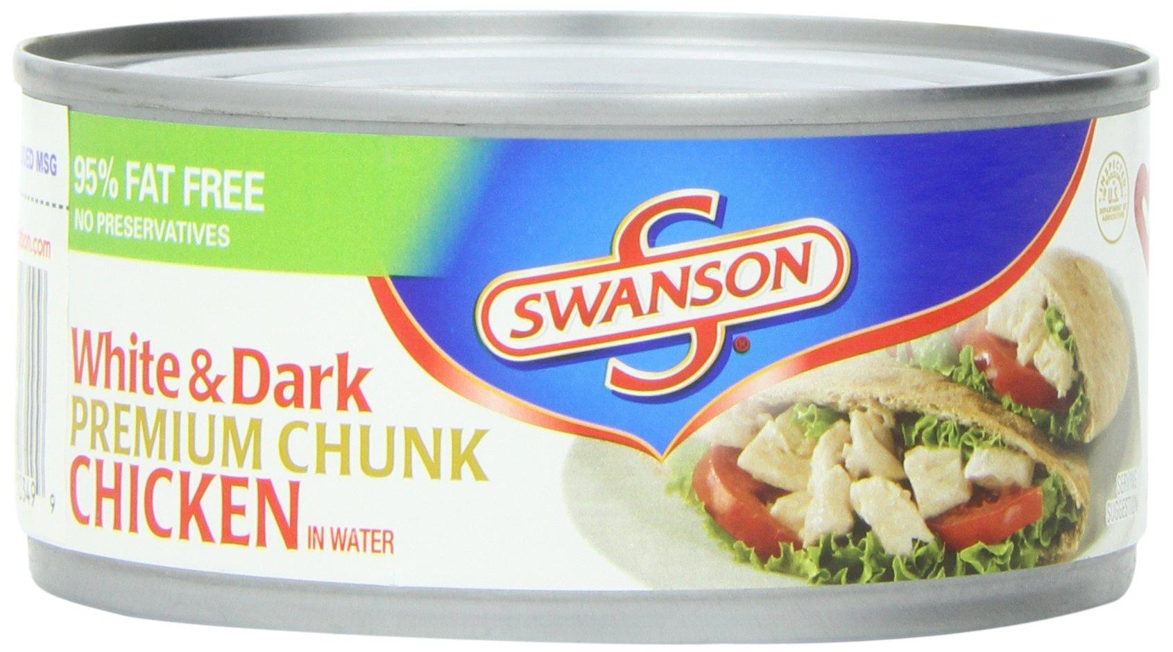 Swanson White & Dark Premium Chunk Chicken, 9.75 Ounce (Pack of 12)