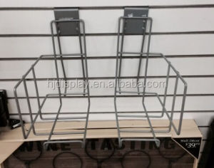 Metal Wire Display Rack Wall Mounted Display Stand Bookshop CD Rack