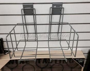 Metal Wire Display Rack Wall Mounted Display Stand Bookshop Cd Rack