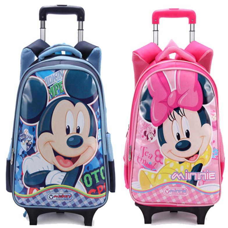 60ef736703 Trans Kids Trolley School Bags Boys Children School Wheeled Backpack  Mochilas Kids Cartoon Rolling Bags Travel Bag on Wheels