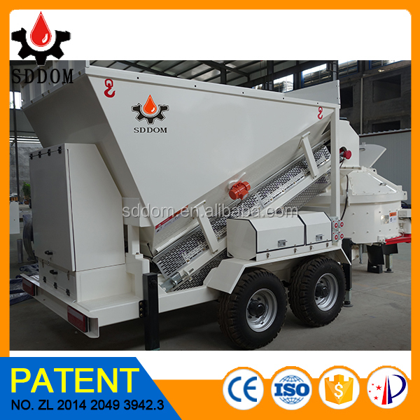 mobile hopper cement concrete batching plant price