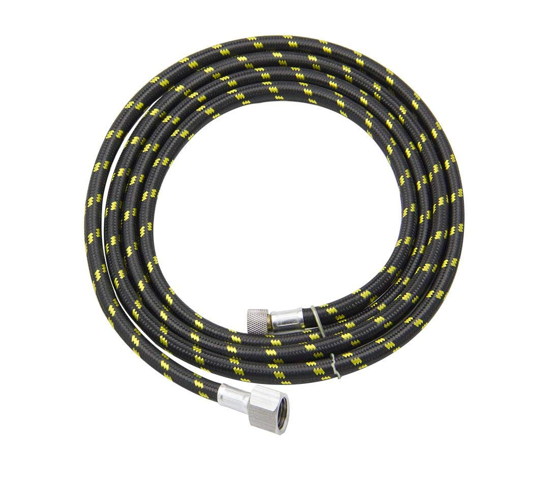 "SYWHZ Airbrush 6-Ft Air Nylon Braided Hose with Bsp 1/4"" & 1/8"" Fitting"