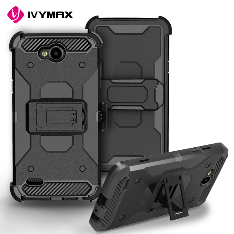 2017 IVYMAX rugged shockproof 3 in1 tpu+pc hybrid belt clip holster mobile phone case for LG V7