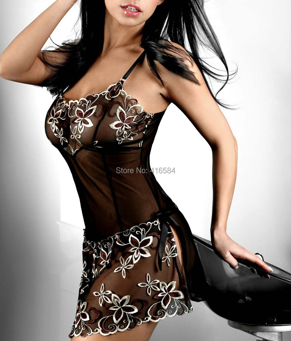 Europe-and-America-Sexy-Lingerie-Sexy-Nightgowns ...