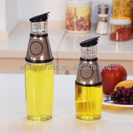 Elemental Kitchen 250Ml Stock Glass Olive Cruet Oil And Vinegar Dispenser