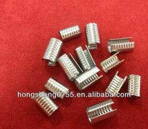 shinny silver metal end clip for elastic with high quality