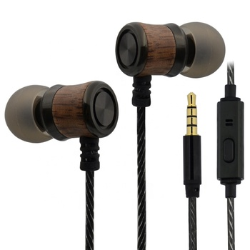 2018 trending products skillful manufactyre wood Mobile phone earphone for mp3