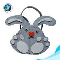 New style best selling in 2015 rabbit shape felt basket