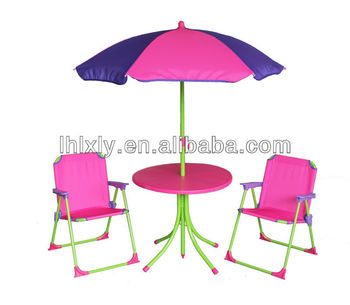 Pink Kids Patio Set For Girls/ Kids Outdoor Furniture/table And Chairs Set