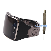 Black Metallic Replacement Wristband Fitness Bracelet Strap For SAMSUNG Gear S R750 Steel Belt With Debugger
