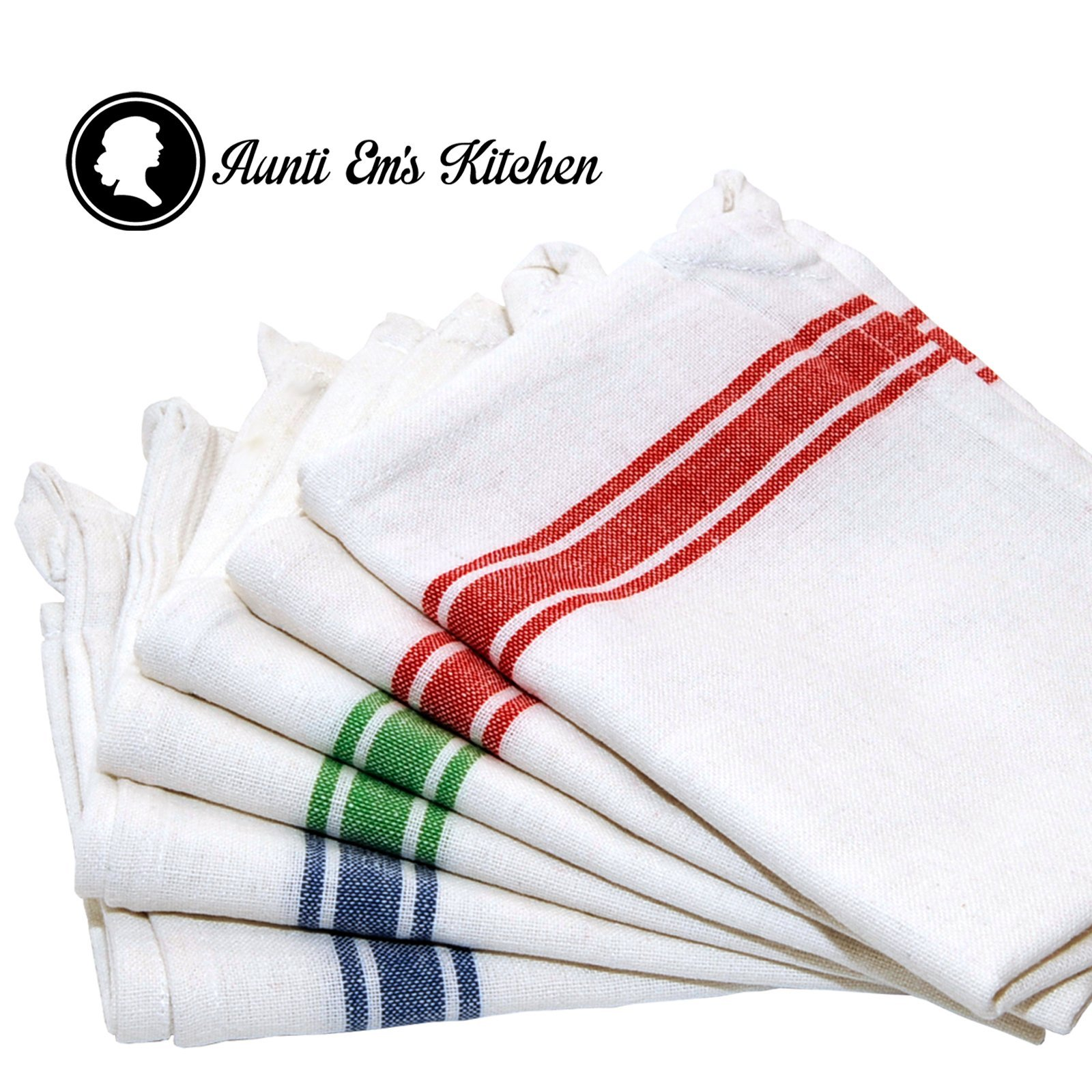 Get Quotations · Kitchen Dish Towels With Vintage Design For Kitchen Decor  Super Absorbent 100% Natural Cotton Kitchen