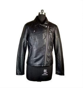 Quality assured spring ladies PU motorcycle down jackets women italian leather jacket