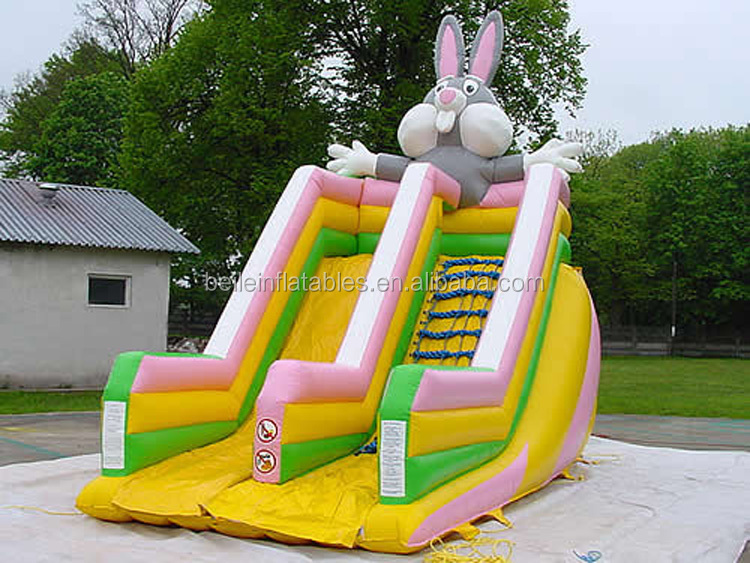 Hot tremendous inflatable rabbit shaped water slide for sale