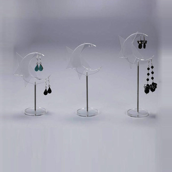 Custom Acrylic Earring Showing Stand Lucite Display Holder