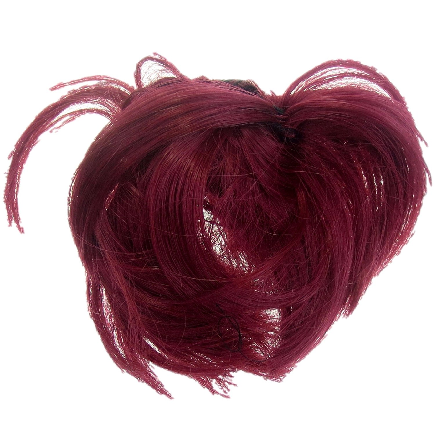 Buy Hair Extension Scrunchie Bright Red Bun Up Do Down Do Topper