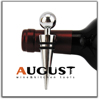 China manufacturer Decorative Wine Bottle Stopper, Metal and Rubber Design Contemporary Style Classy Modern Look