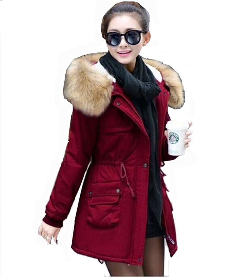 Nuevo 2015 engrosamiento Winter Jacket Women Casual Fleece