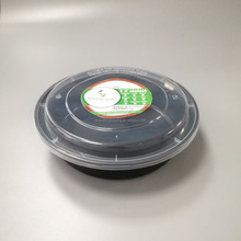 Disposable Round Plastic Food/Cake Packaging Container with Dome Lid