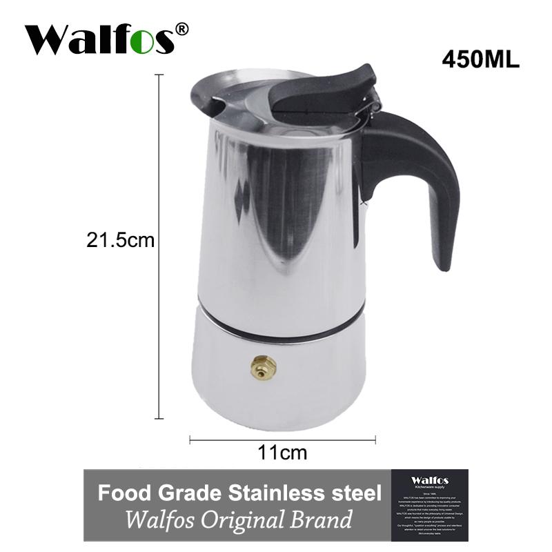 Чайник для эспрессо из нержавеющей стали, кухонный чайник для капельного приготовления, чайник Moka Coffee Pot, устройство для получения кофейной ...(Китай)