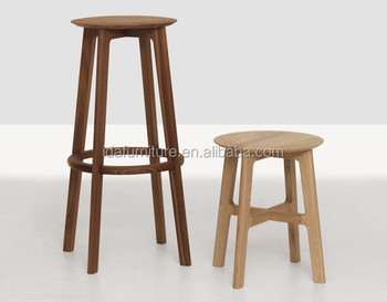 Moderno solido sgabello alto da bar in legno di quercia sedia da