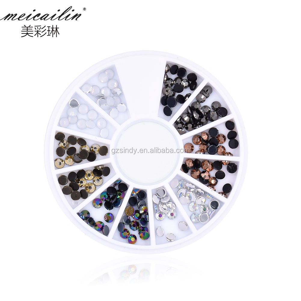 Round Shape Flatback Rhinestone Sticker decoration for Nail art beauty