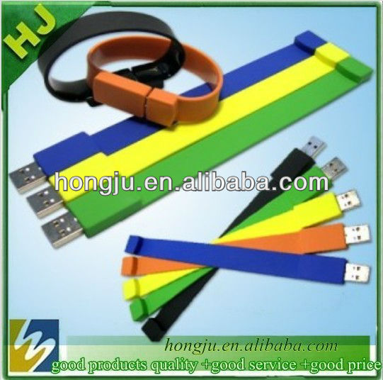 cheap silicone bracelet usb flash drive