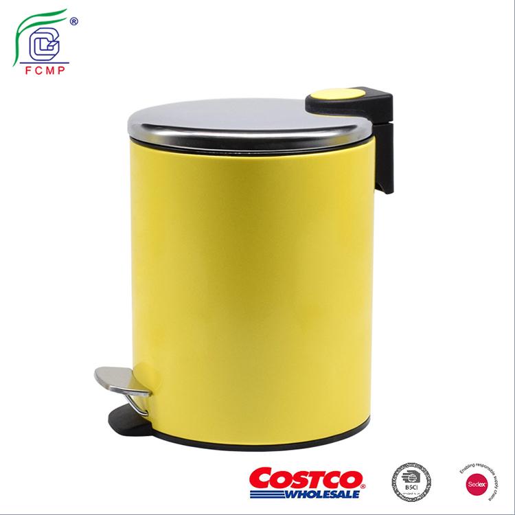 Couleur jaune à pédale poubelle poubelle pour la Cuisine ...