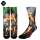 new fashion dye sublimated 3d digital printed custom crew socks