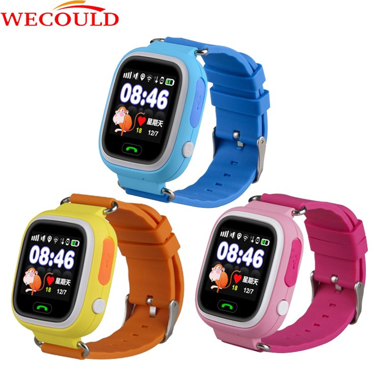 "WECOULD hot sell christmas gift kids gps watch phone,gps watch mobile phone 1.22"" color touch for kids"