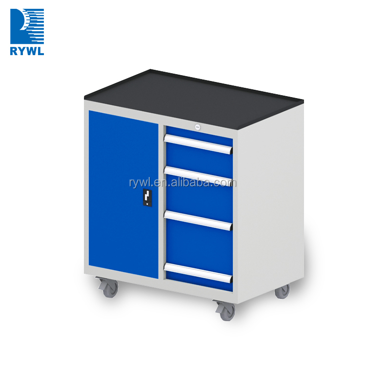2017new practical and nice design tool box trolley workshop mobile cabinet garage cabinet