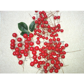 waterproof styrofoam artificial christmas berries for christmas tree decoration - Red Berry Christmas Tree Decorations