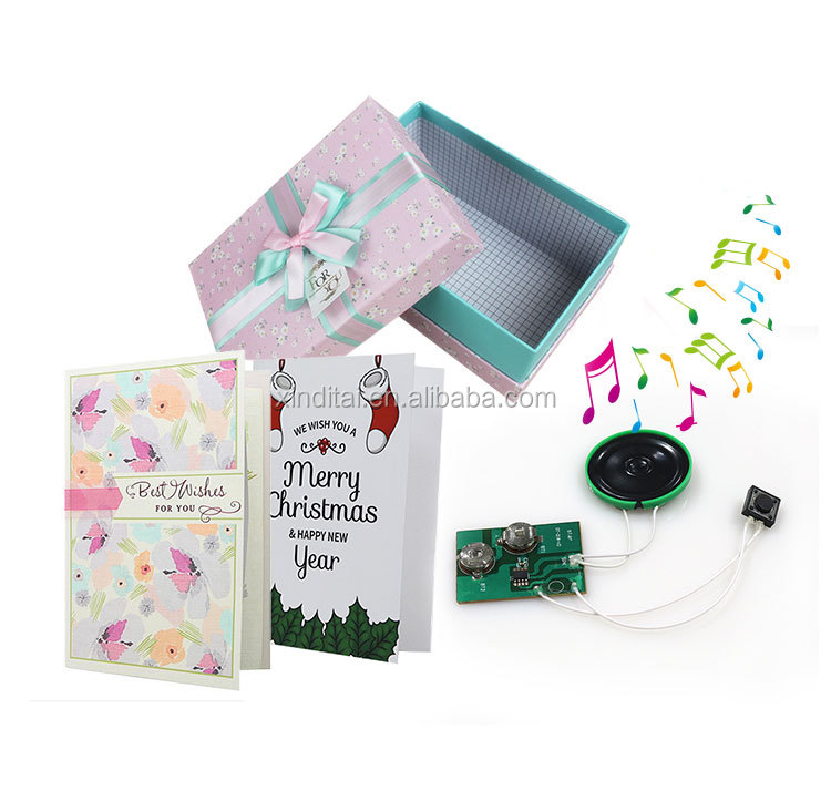 light sensitive pre-recorded sound module With LED light for children sound book